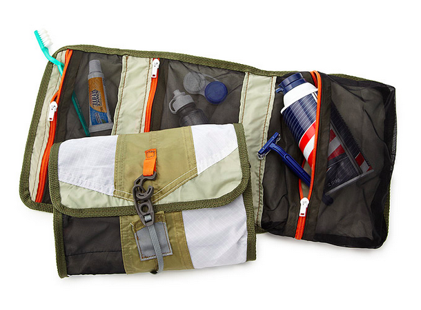 recycled tent dopp kit