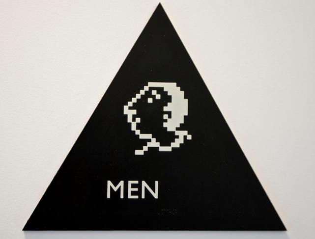 men's room sign