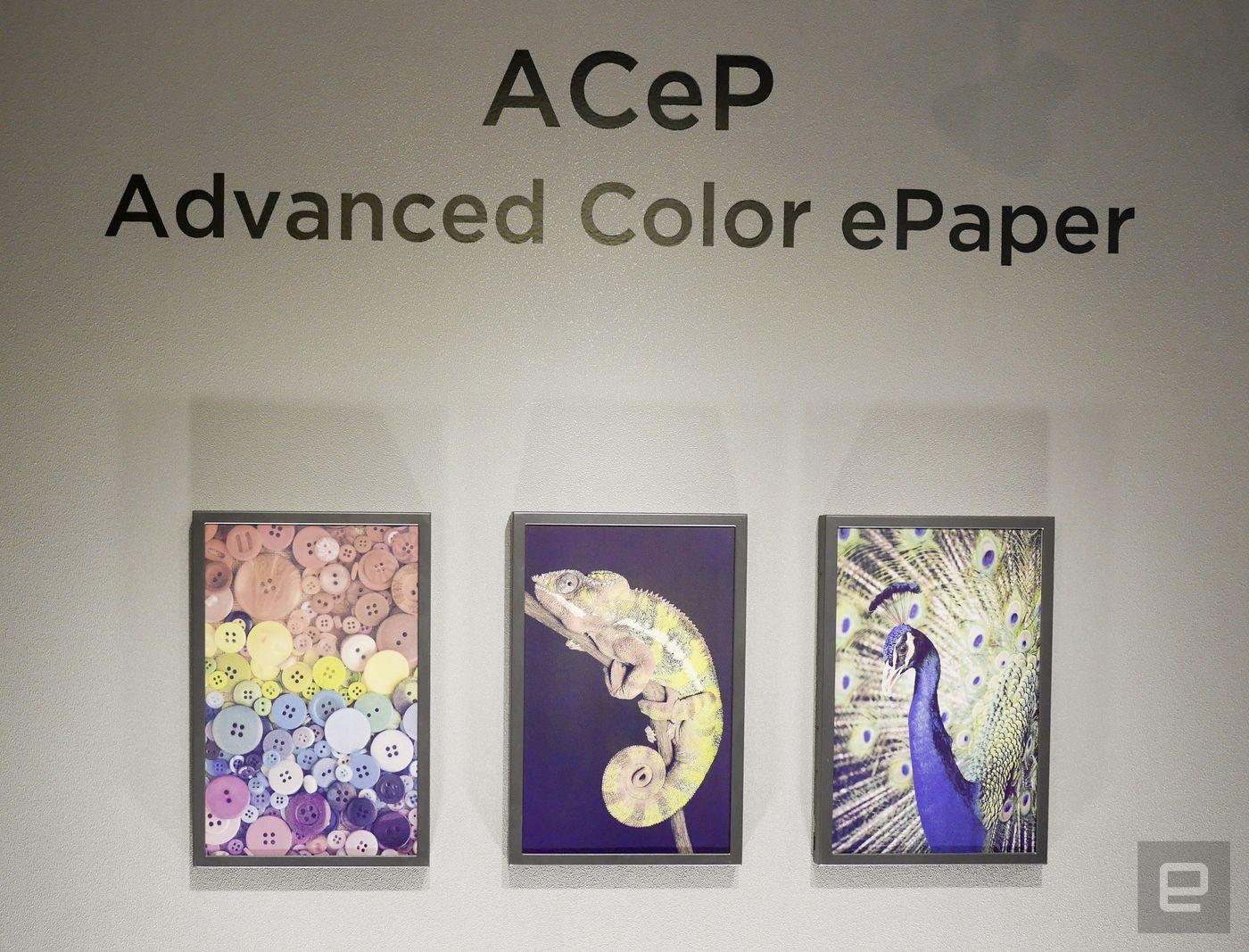 元太展出先进彩色电子纸(ACeP)技术实物演示
