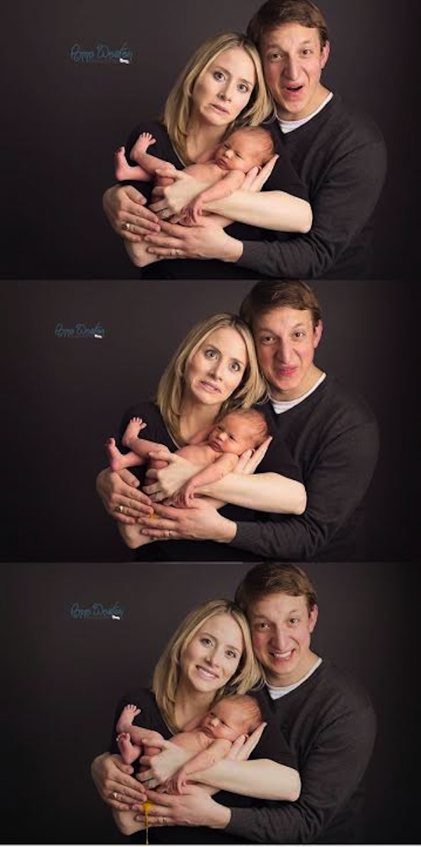 Another Baby Hilariously Ruins Parents' Attempt At Loving Photo Shoot