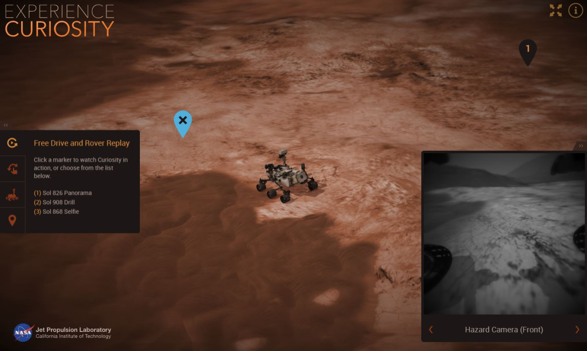 Now you can drive around Mars with NASA's Curiosity simulator