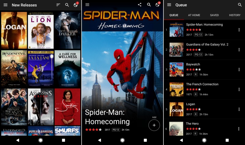 Netflix's Android DVD app