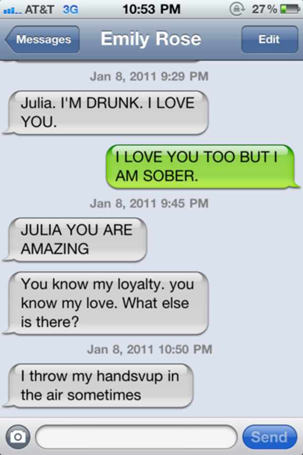What to text after a drunken hookup