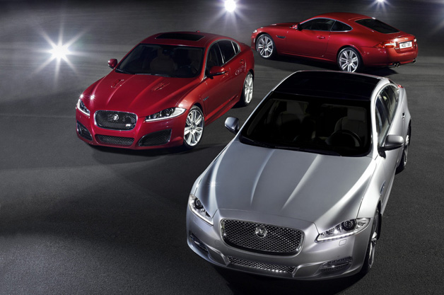 Jaguar XJ, XF and XK