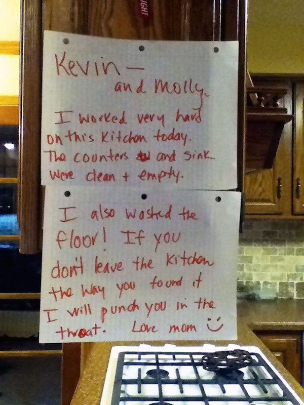 These Hilarious Notes From Parents Prove That Old Age Doesn't Kill HumorThese Hilarious Notes From Parents Prove That Old Age Doesn't Kill Humor