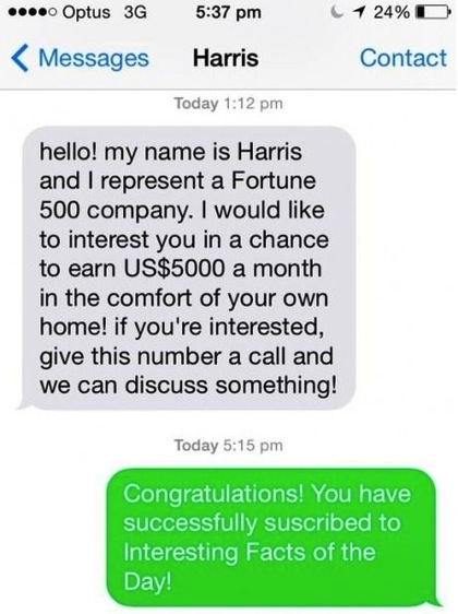 best text reply ever, this is how you handle spam texts
