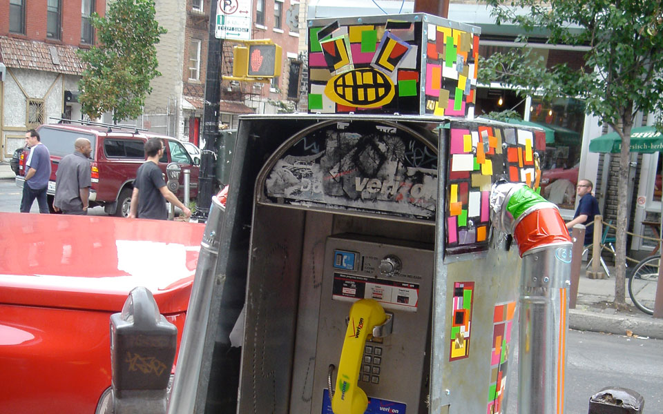 A 'robot' payphone in New York