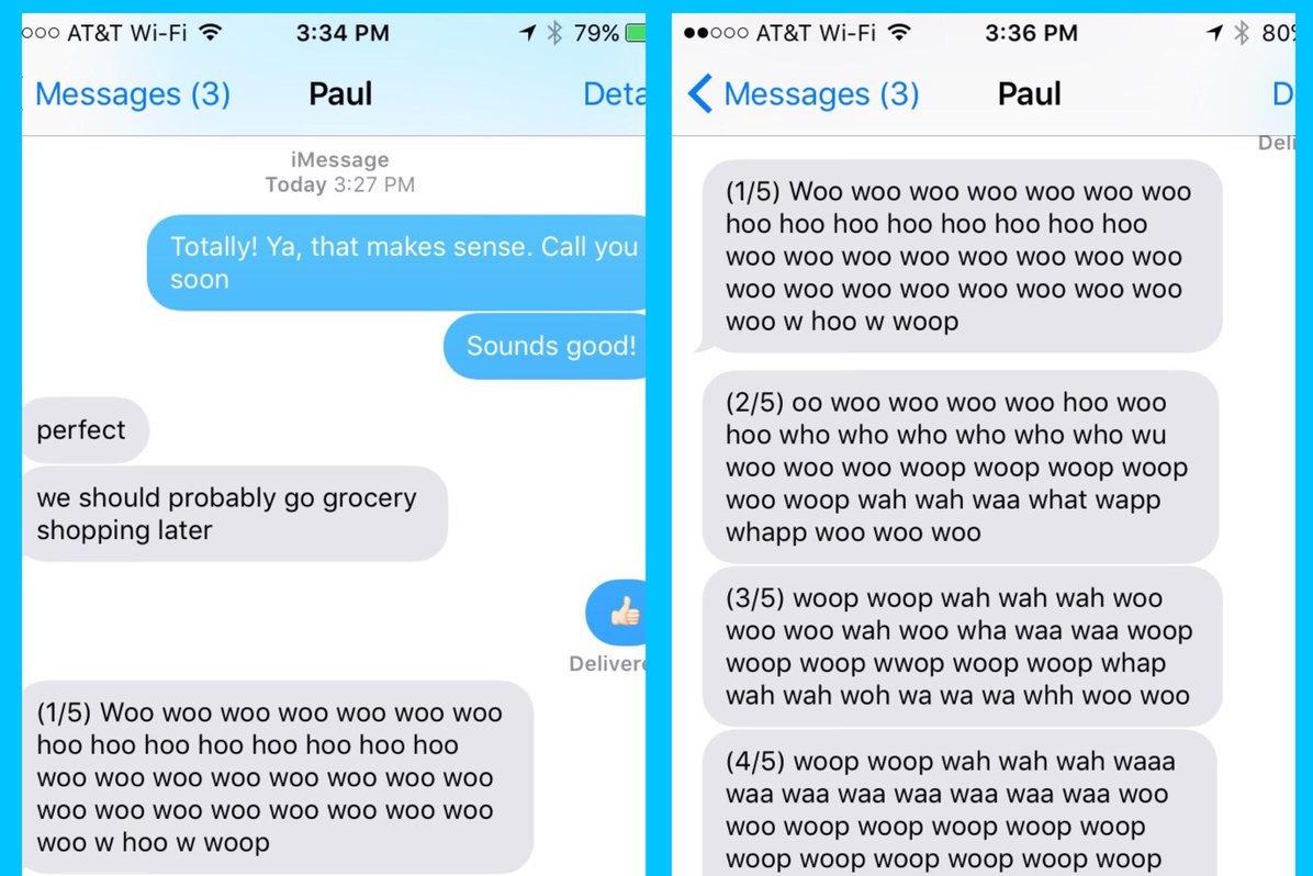 Posaune geübt, Spracherkennung generiert Endlos-SMS