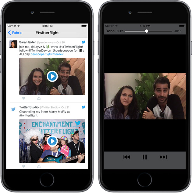 Twitter videos now run full screen on other apps