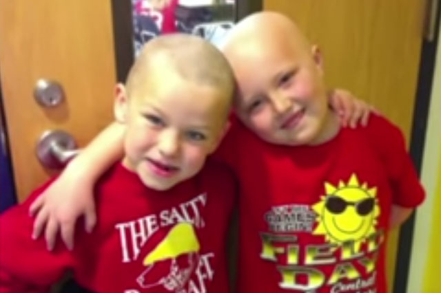 Schoolboy, 7, has head shaved to support best friend's cancer battle