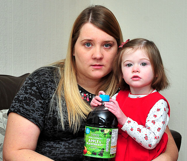Tesco squash drink that smelled of 'sewage' made baby violently sick