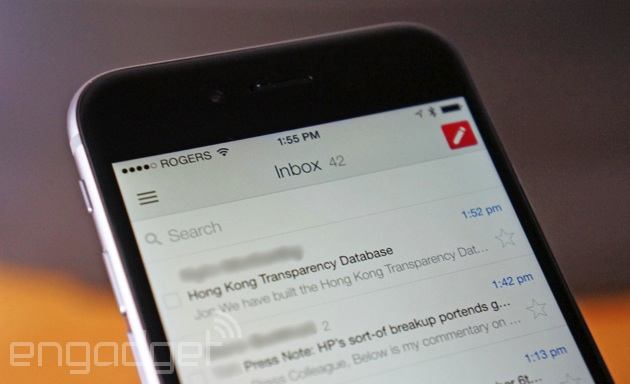 Gmail on an iPhone 6