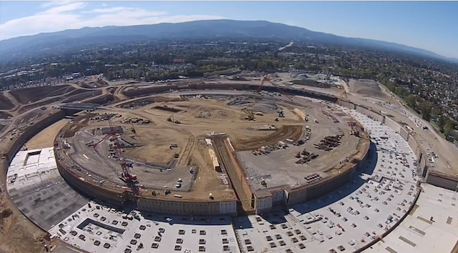 Drone Footage Of The New Apple Headquarters In Cupertino