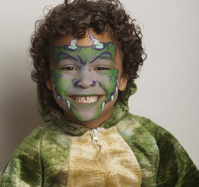 Halloween face painting tutorial: Monster