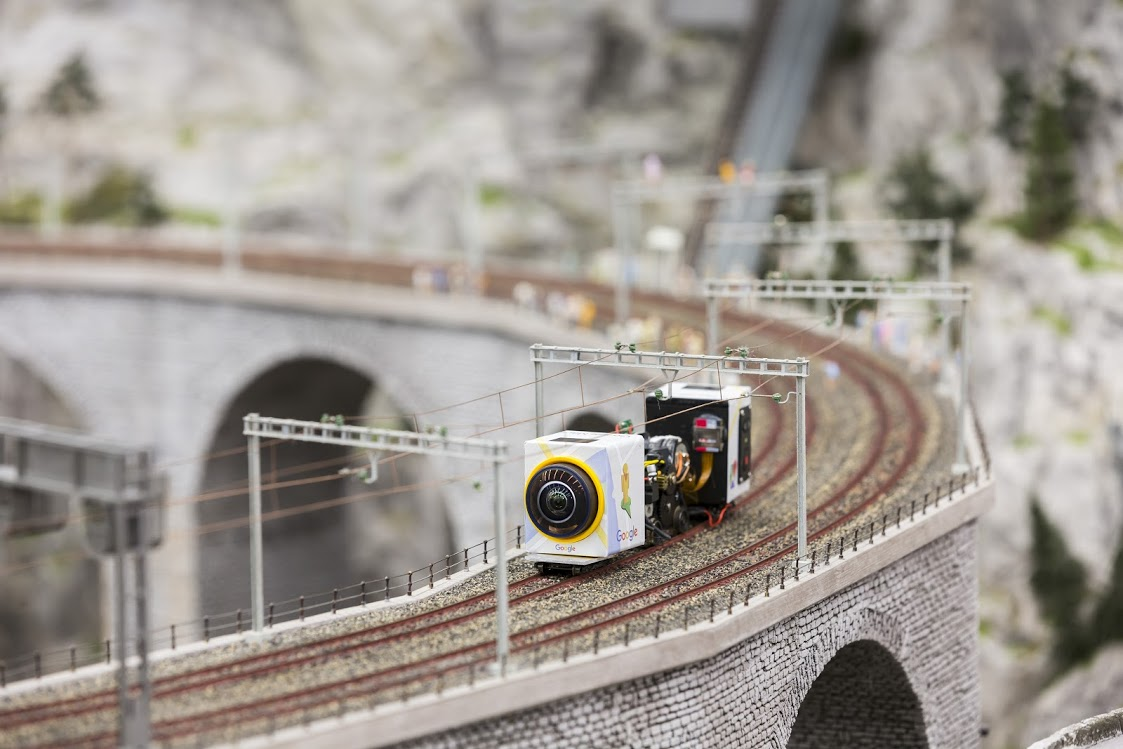 Google uses tiny cameras to capture adorable mini Street View