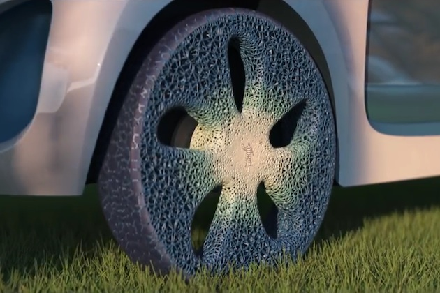 【ビデオ】ミシュラン、3Dプリンターでトレッドを補充/書き換え可能なコンセプト・タイヤを公開!