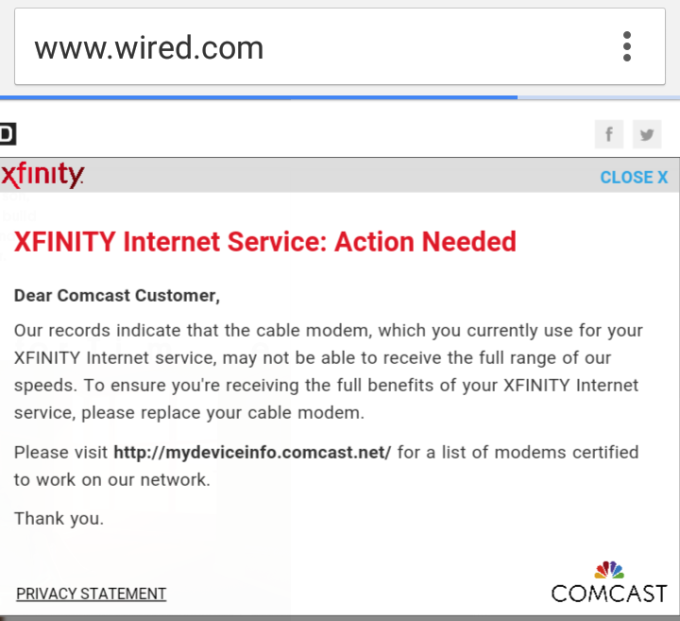 Comcast doesn't like you using third-party cable modems