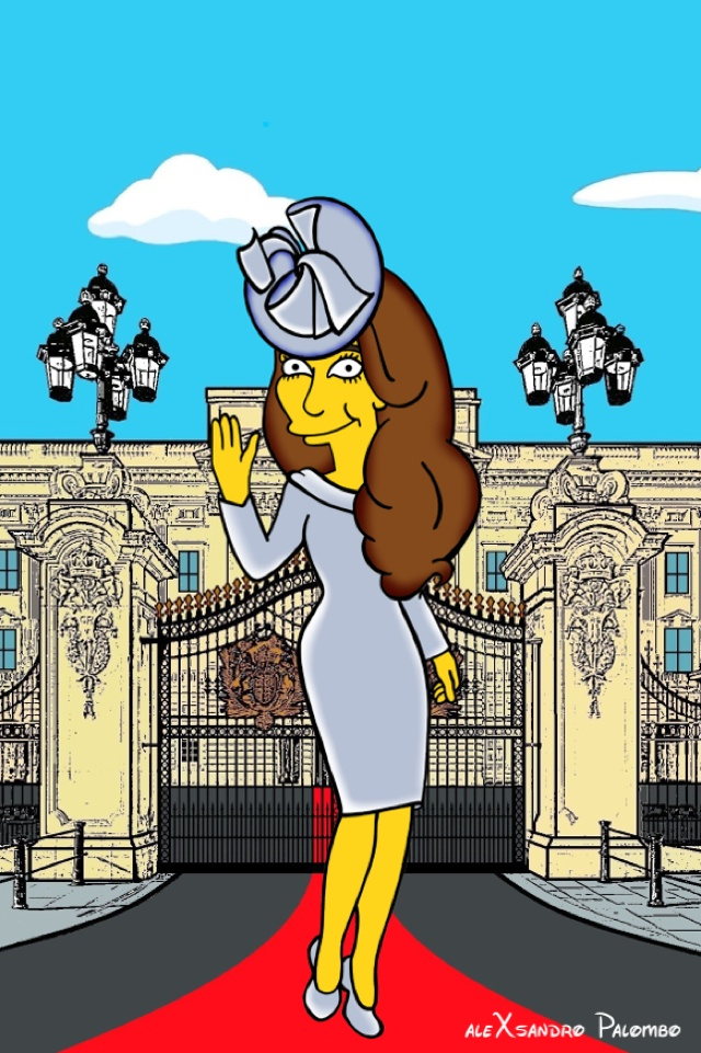 AleXsandro Palambro give Kate Middleton the Simpsons treatment in new artwork