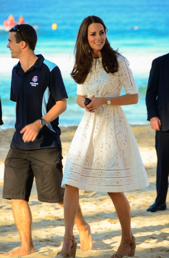 Catherine, Duchess of Cambridge and Prince William, Duke of Cambridge visit Manly Beach on Sydney's north shore, during their royal tour of Australia  Featuring: Catherine,Duchess of Cambridge,Prince William,Duke of Cambridge Where: Sydney, Australia When: 18 Apr 2014 Credit: LJPhotoCorp/WENN.com