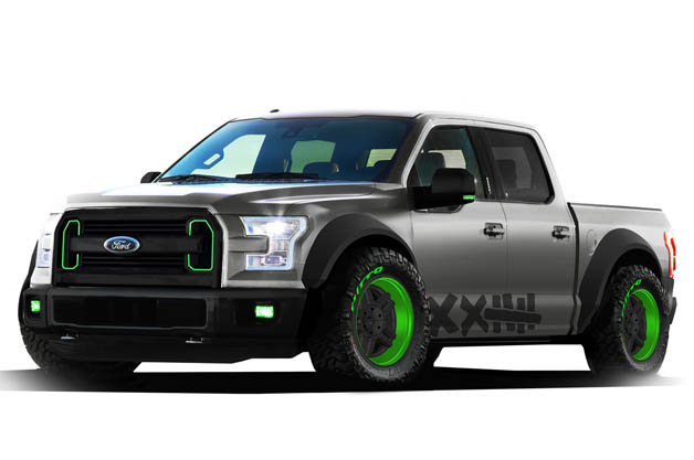 Vaughn Gittin Ford F-150 SEMA 2014 drift truck