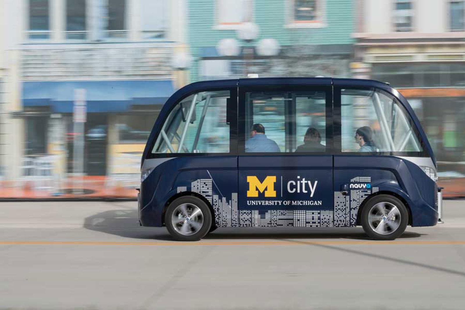 Un autobús autónomo transportará a los estudiantes de la Universidad de Michigan