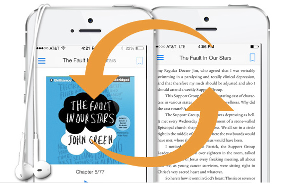 Amazon's updated Kindle apps let you seamlessly switch between text and audiobooks