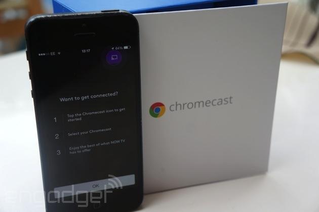 Now TV comes to the Chromecast