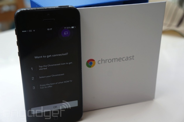 Now TV comes to the Chromecast