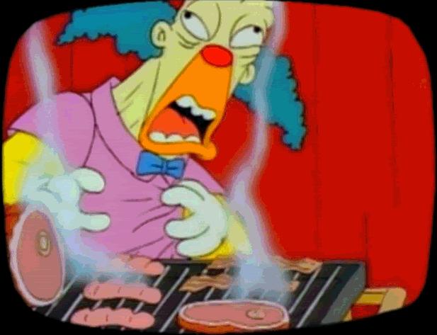 funny simpsons screenshots, hilarious simpsons freeze frames, krusty the clown