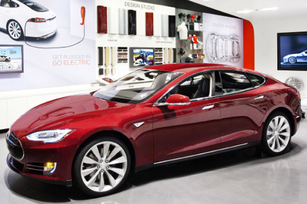 Tesla Motors' showroom in Short Hills, New Jersey.