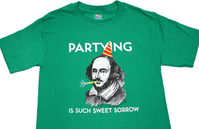 partying is such sweet sorrow shirt shakespeare