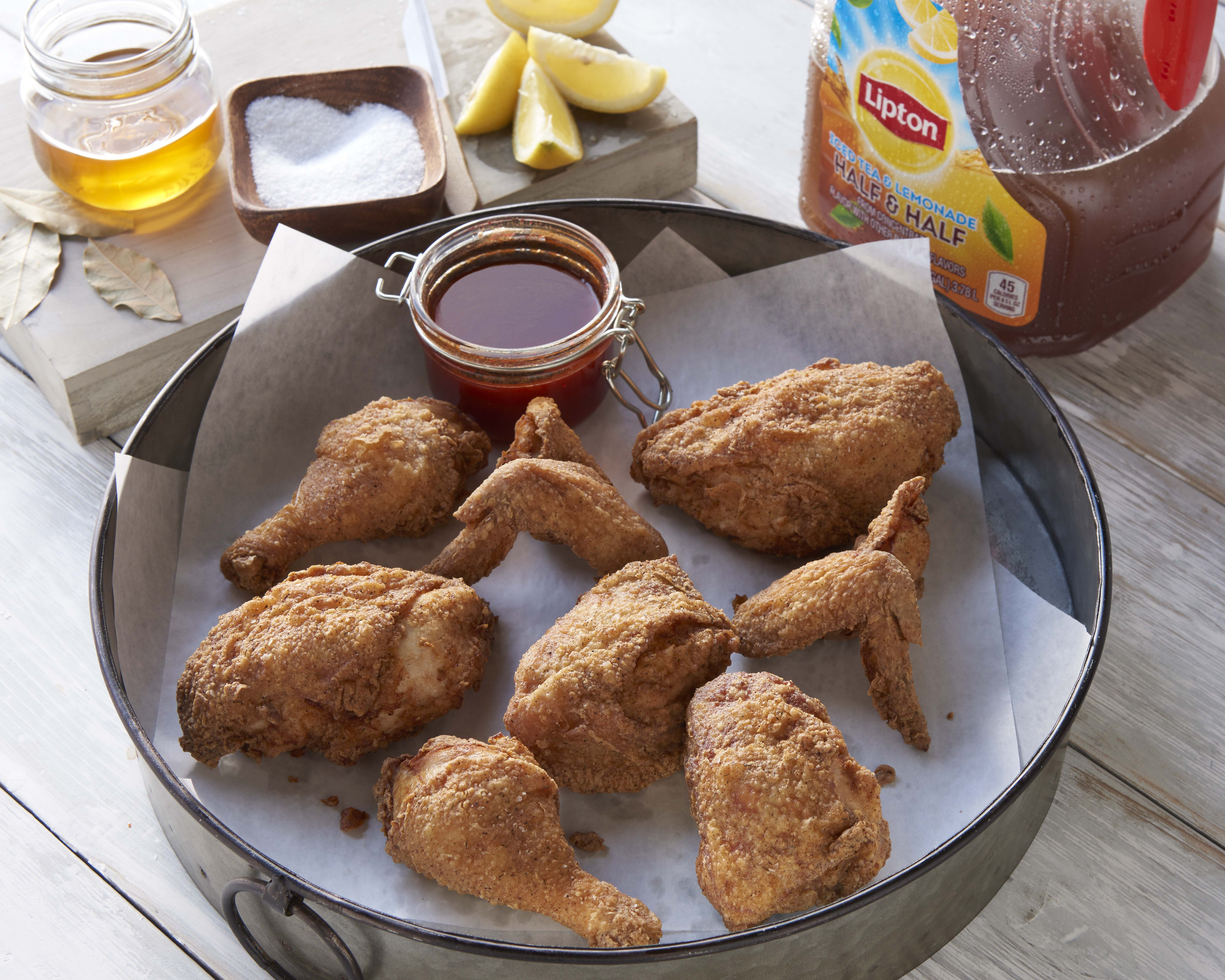 Chef Michael Symon's Twice-Fried Chicken with Spicy Honey