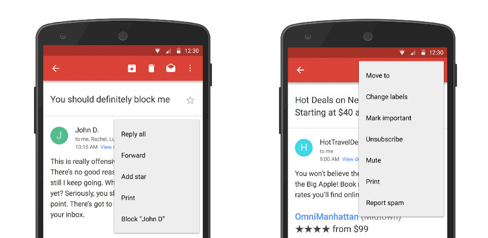 Gmail's block tool is a quick way to silence annoying senders