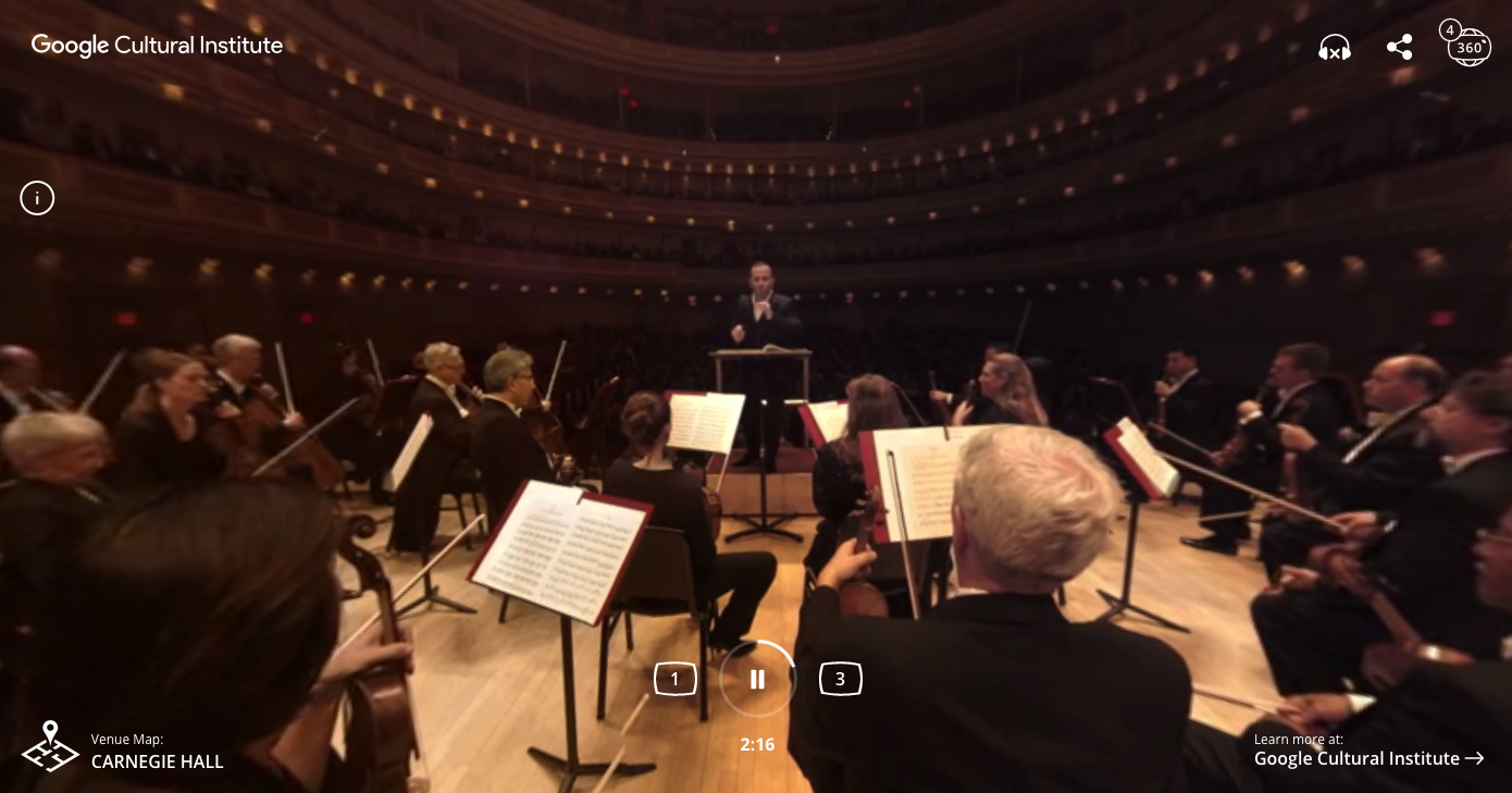 Sit in the orchestra pit with Google's 360-degree video
