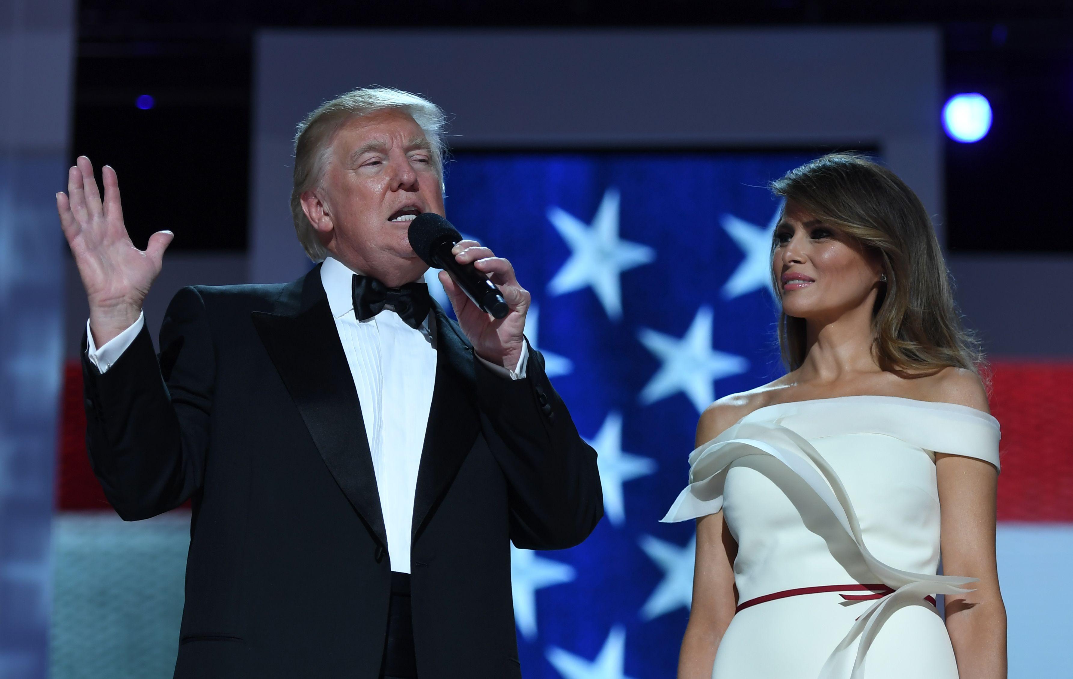 Donald trump praises melania trump at inaugural ball what she puts