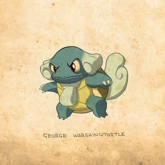 US Presidents re-imagined as Pokemon!
