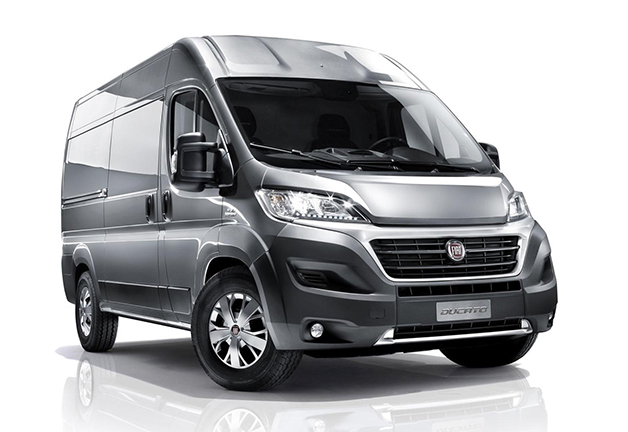 Rendering of the 2015 Fiat Ducato, front three-quarter view