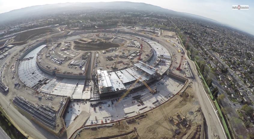 Baustellen-Update: Der neueste Rundflug über das Apple-UFO