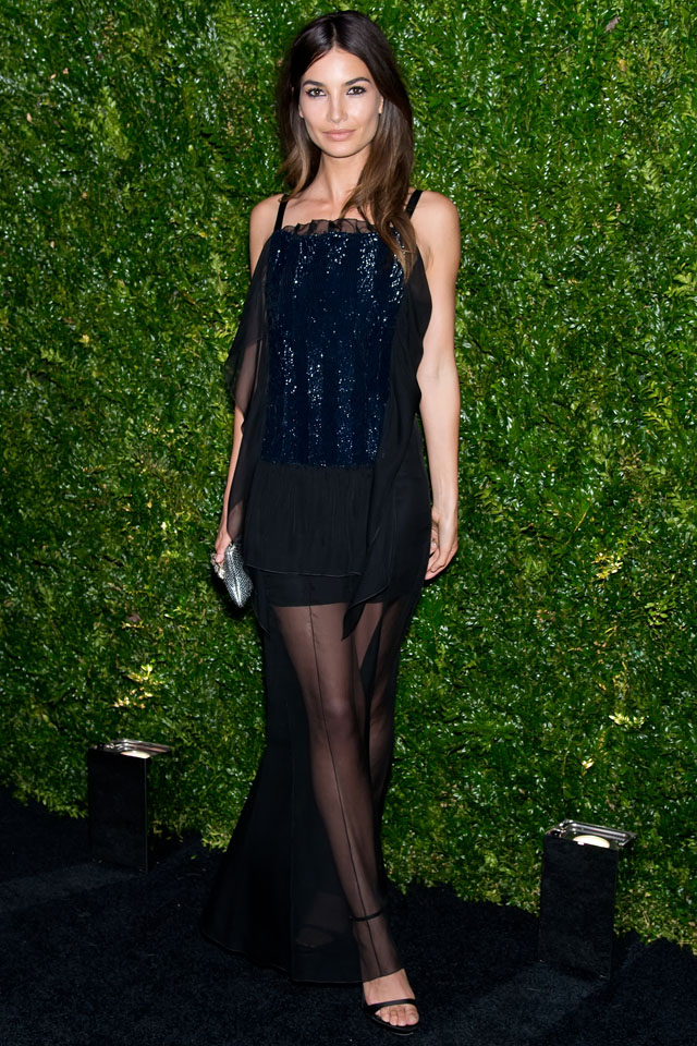 NEW YORK, NY - APRIL 22:  Model Lily Aldridge attends the 9th annual Chanel Artists Dinner during the 2014 Tribeca Film Festival at Balthazar on April 22, 2014 in New York, New York.  (Photo by Gilbert Carrasquillo/FilmMagic)