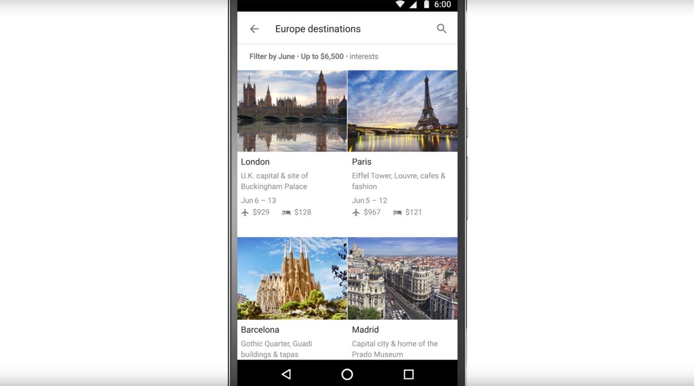 Ahora puedes planificar tus vacaciones con 'Destinos en Google'