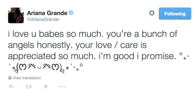 ariana grande tweets after big sean breakup