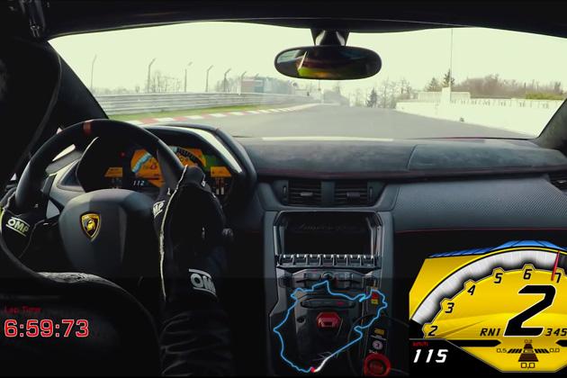 【ビデオ】ランボルギーニ「アヴェンタドールSV」がニュルで6分59秒73の好記録をマーク!