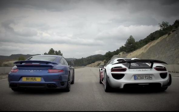 Porsche drag race