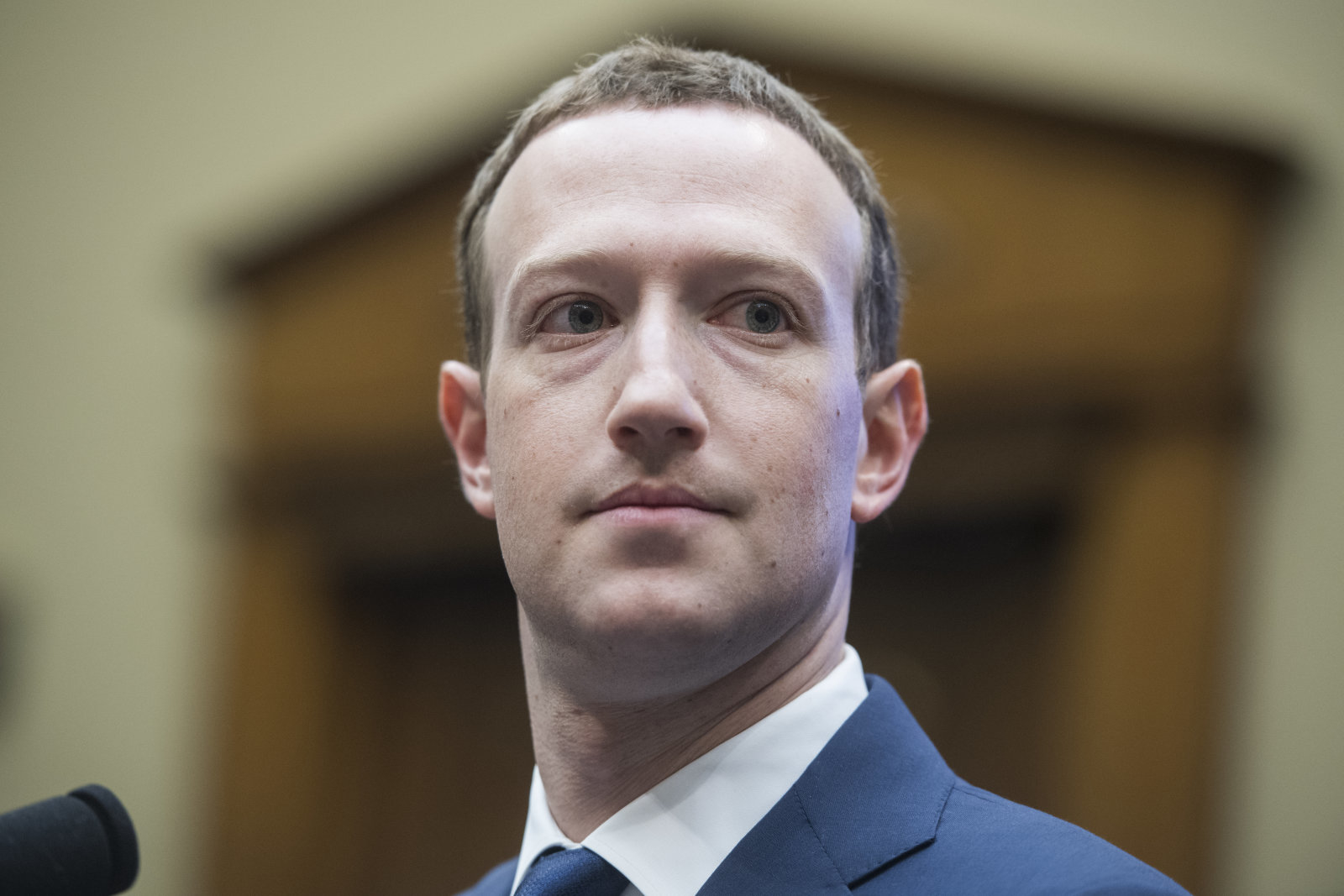 UNITED STATES - APRIL 11: Facebook CEO Mark Zuckerberg prepares to testify before a House Energy and Commerce Committee in Rayburn Building on the protection of user data on April 11, 2018. (Photo By Tom Williams/CQ Roll Call)