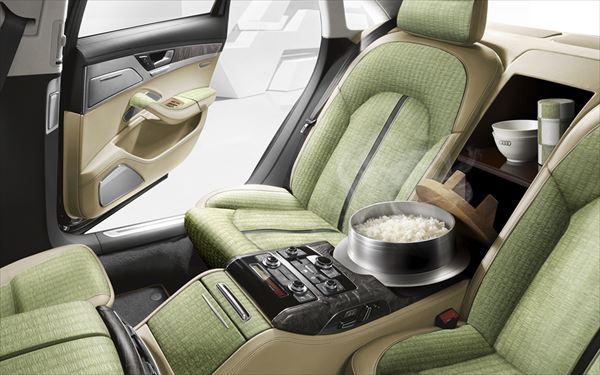世界初!Audiが「畳シート&炊飯器」搭載の日本限定特別高級車を発表