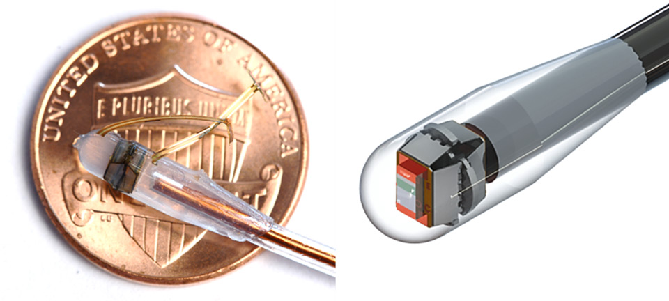 The pop-up sensor in a catheter