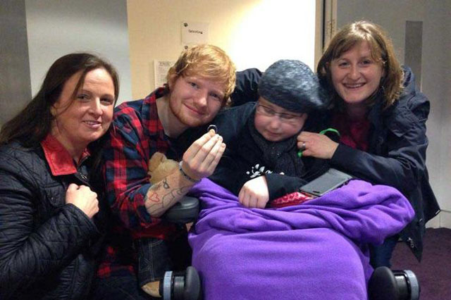 Ed Sheeran accepts seriously ill fan's 'marriage proposal'