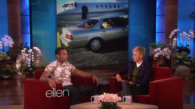 Rapper Ludacris on Ellen DeGeneris Show - screencap