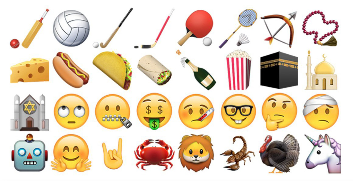 Some of the new emoji in iOS 9.1 and OS X 10.11.1
