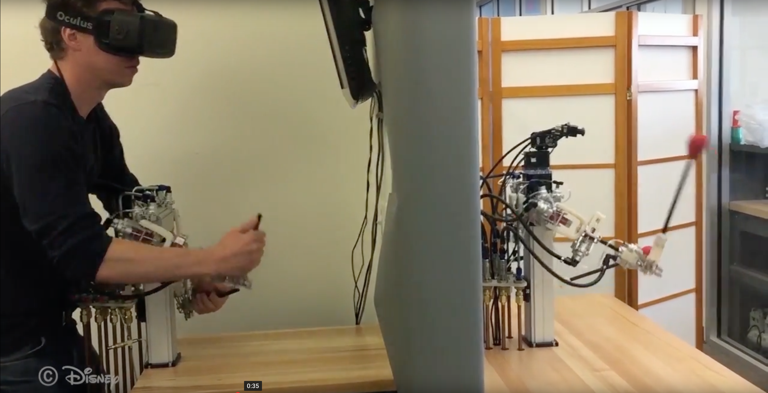 Disney's remote control robots move just like people